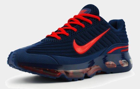 Nike Air Max 360 синие с красным
