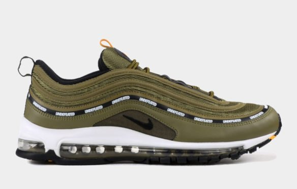 Фото Undefeated x Nike Air Max 97 зеленые с белым - 1